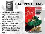 stalin s plans