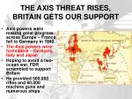 the axis threat rises britain gets our support