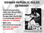 weimar republic rules germany