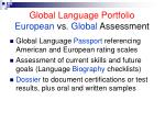 global language portfolio european vs global assessment