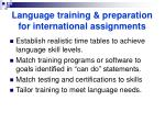 language training preparation for international assignments