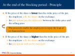 at the end of the blocking period principle27