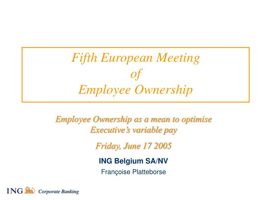 fifth european meeting of employee ownership l.