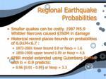 regional earthquake probabilities4