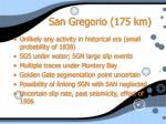 san gregorio 175 km
