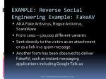 example reverse social engineering example fakeav