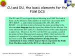 cu and du the basic elements for the fsm dcs