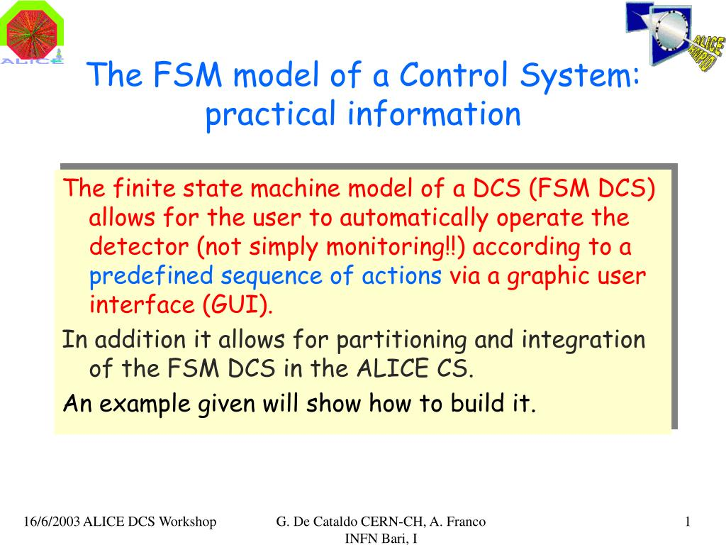 the fsm model of a control system practical information l.