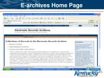 e archives home page