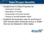 grant project benefits