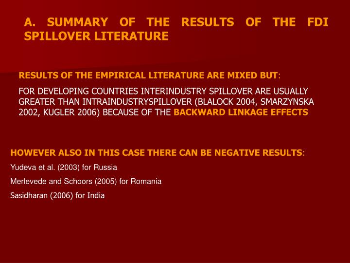 fdi spillovers in slovakia focus International trade, foreign direct investment, and technology spillovers wolfgang keller nber working paper no 15442 october 2009 jel no f1,f2,l2,o3,o4.
