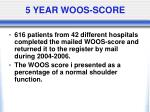 5 year woos score