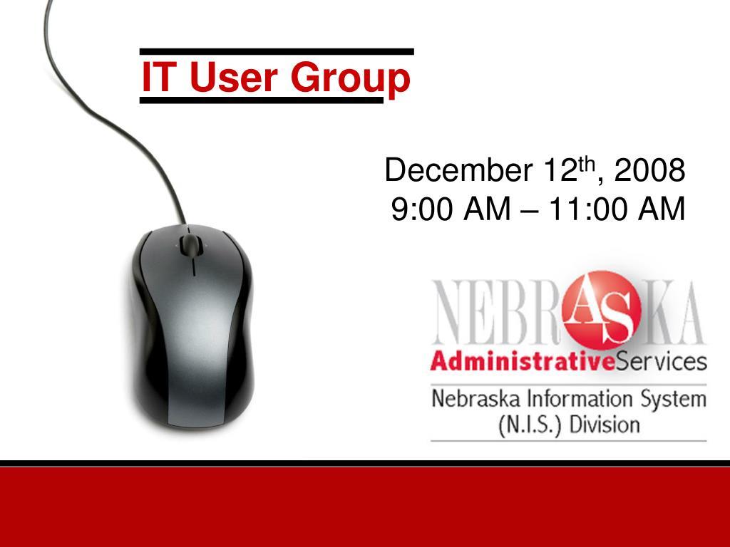it user group l.