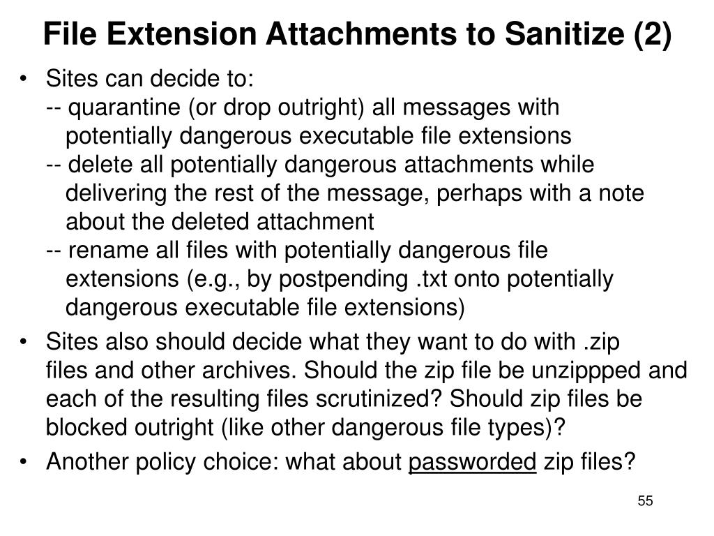 File Extension Attachments to Sanitize (2)