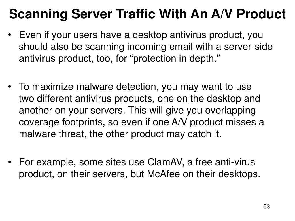 Scanning Server Traffic With An A/V Product