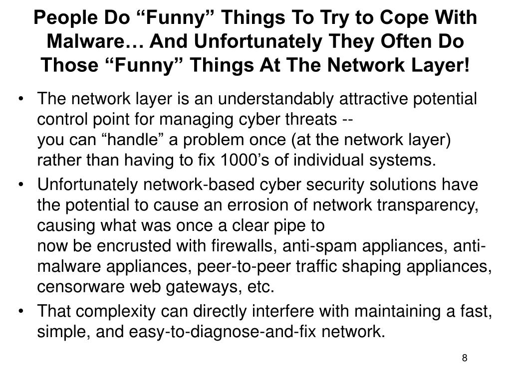 "People Do ""Funny"" Things To Try to Cope With Malware… And Unfortunately They Often Do"