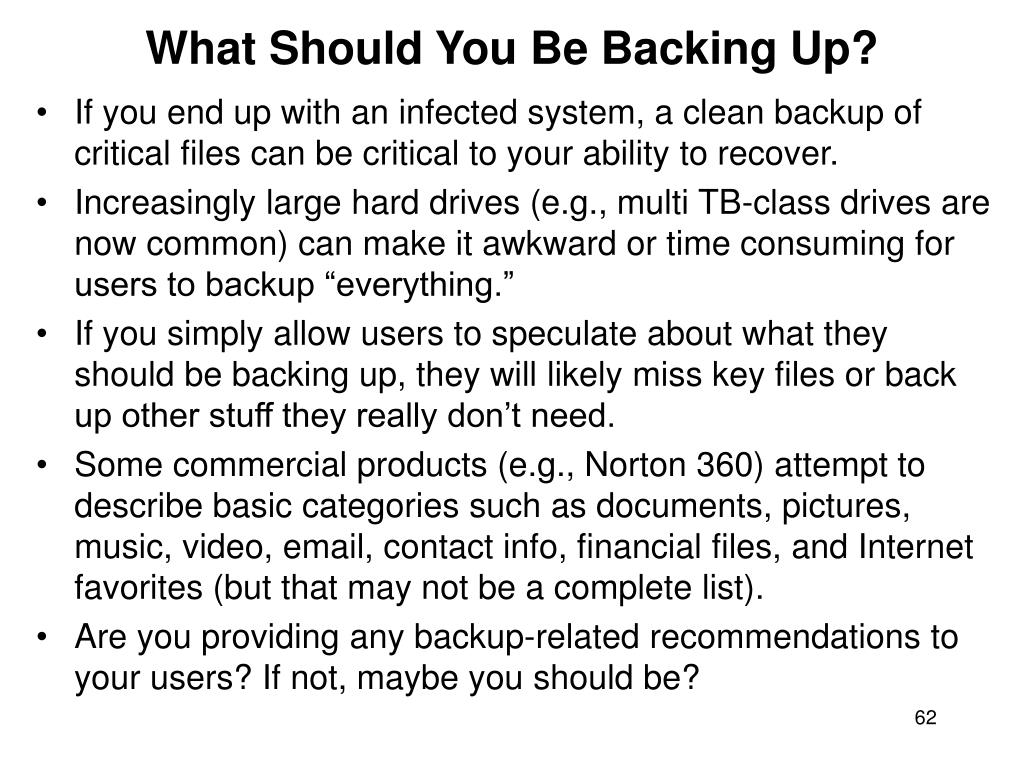 What Should You Be Backing Up?