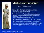 idealism and humanism9
