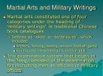 martial arts and military writings