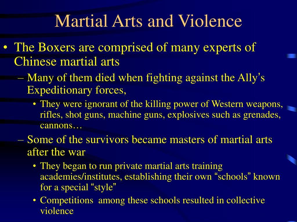 martial arts and violence l.