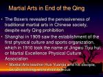 martial arts in end of the qing