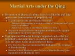 martial arts under the qing