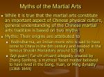 myths of the martial arts