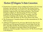 election of delegates to state convention