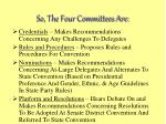 so the four committees are