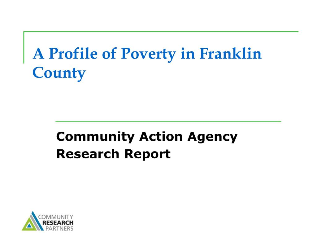 A Profile of Poverty in Franklin County