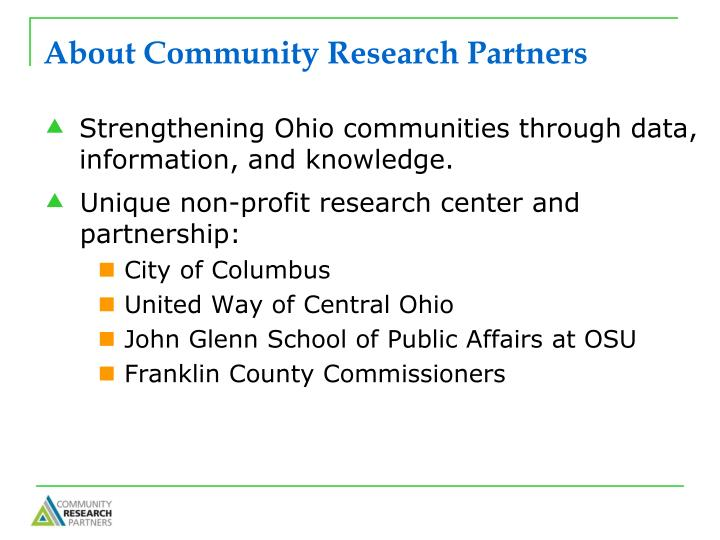 About community research partners