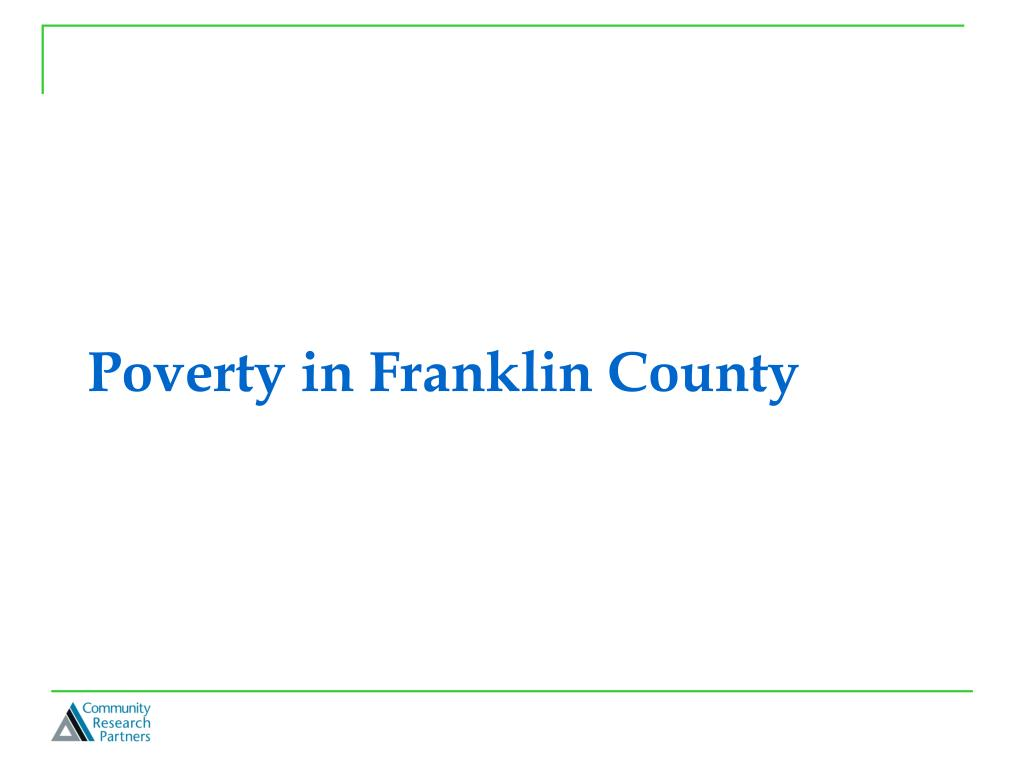 Poverty in Franklin County