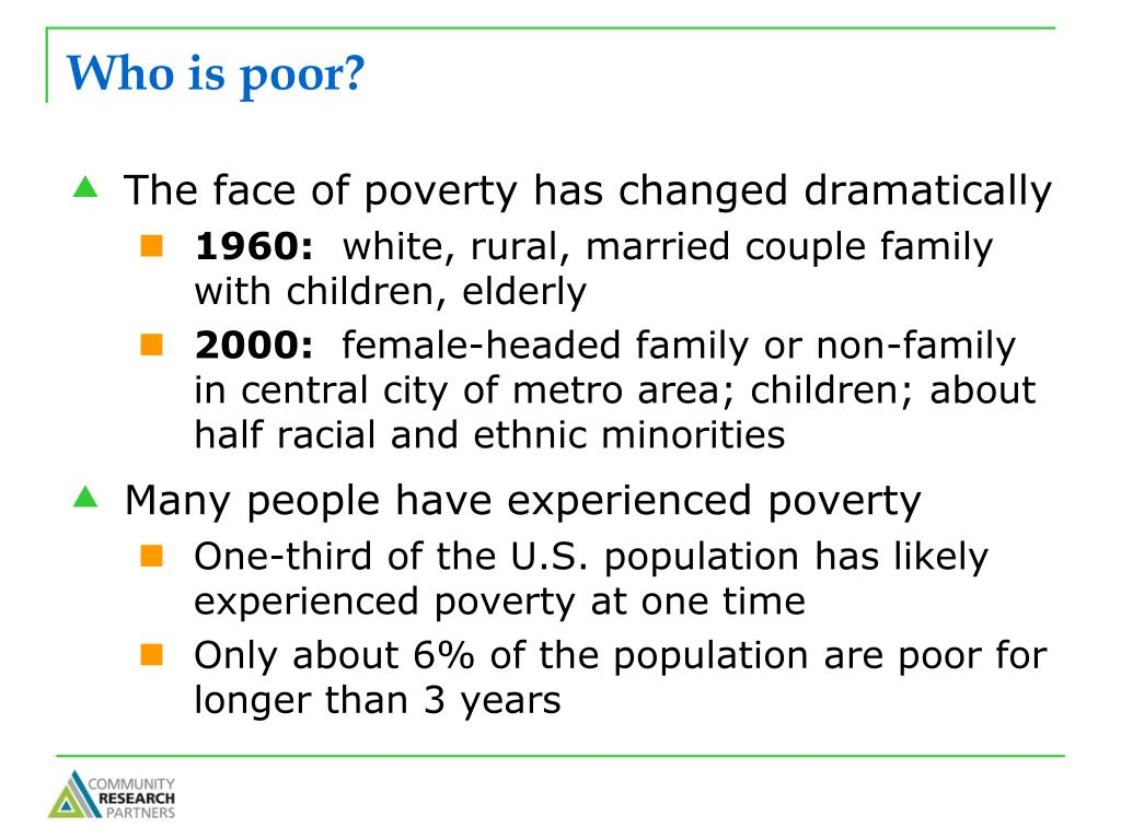 Who is poor?