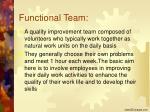 functional team