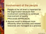 involvement of the people