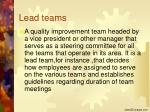 lead teams