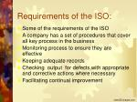 requirements of the iso