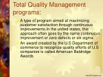 total quality management programs