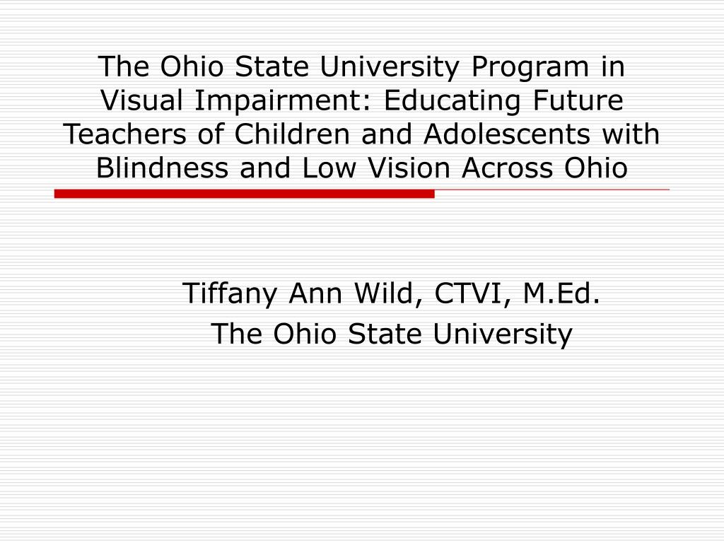 tiffany ann wild ctvi m ed the ohio state university l.