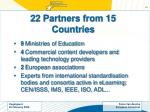 22 partners from 15 countries