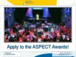 apply to the aspect awards