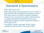 standards specifications
