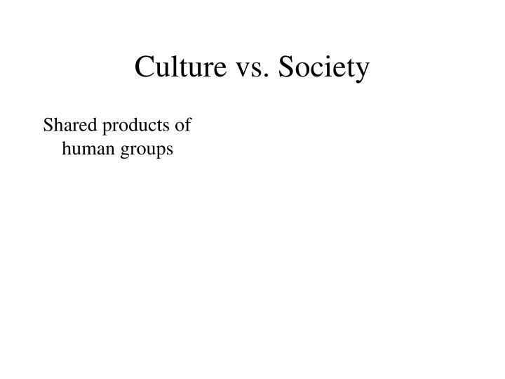Culture vs society1