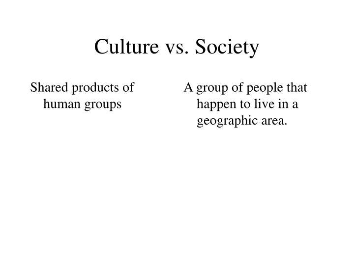 Culture vs society2