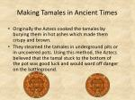making tamales in ancient times