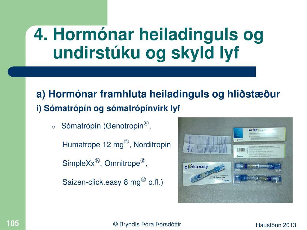 4. Hormónar heiladinguls og