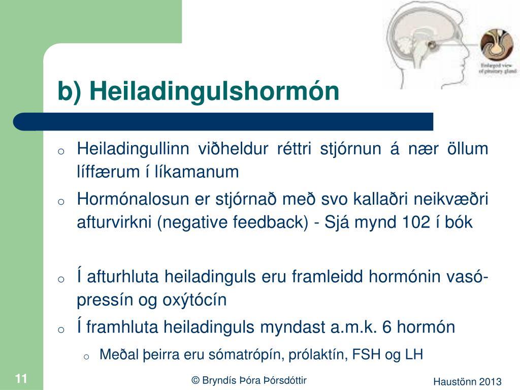 b) Heiladingulshormón