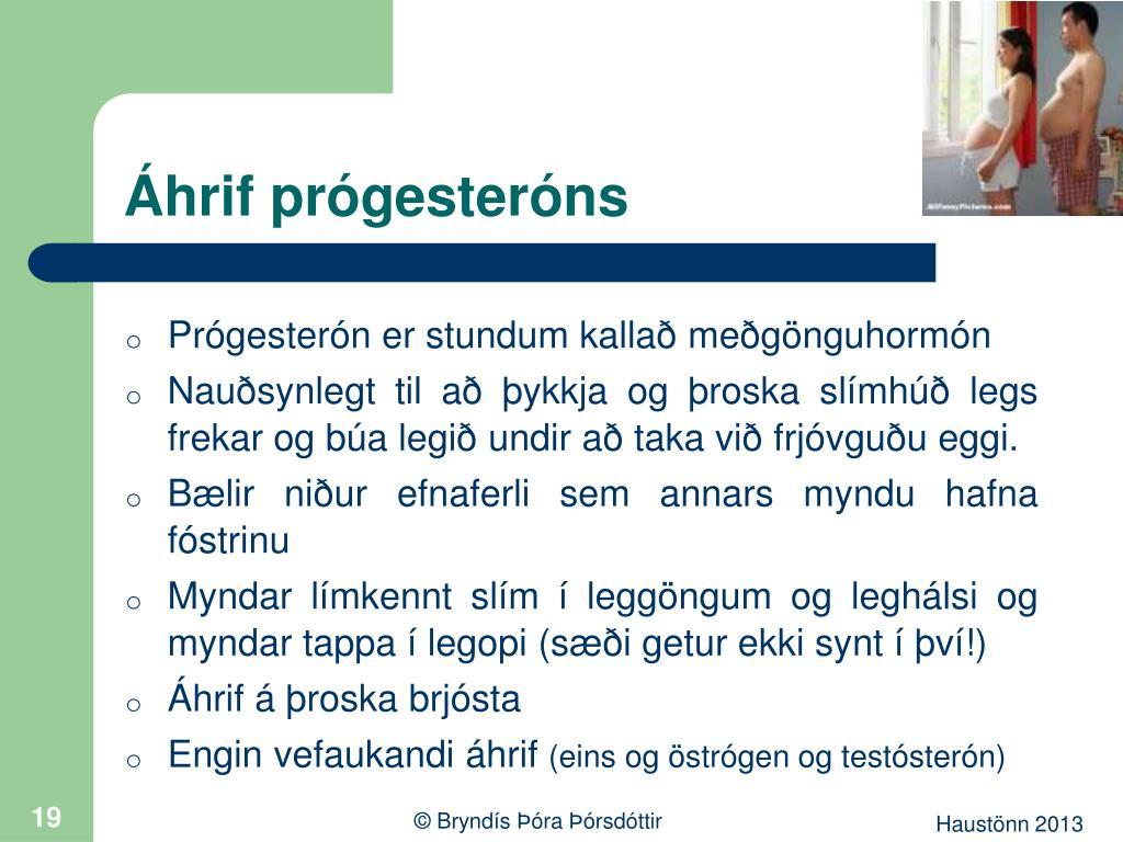 Áhrif prógesteróns