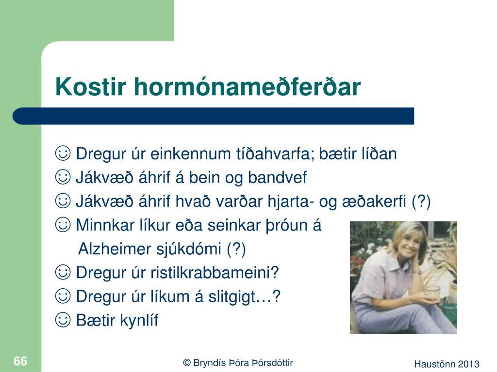 Kostir hormónameðferðar