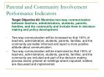 parental and community involvement performance indicators27